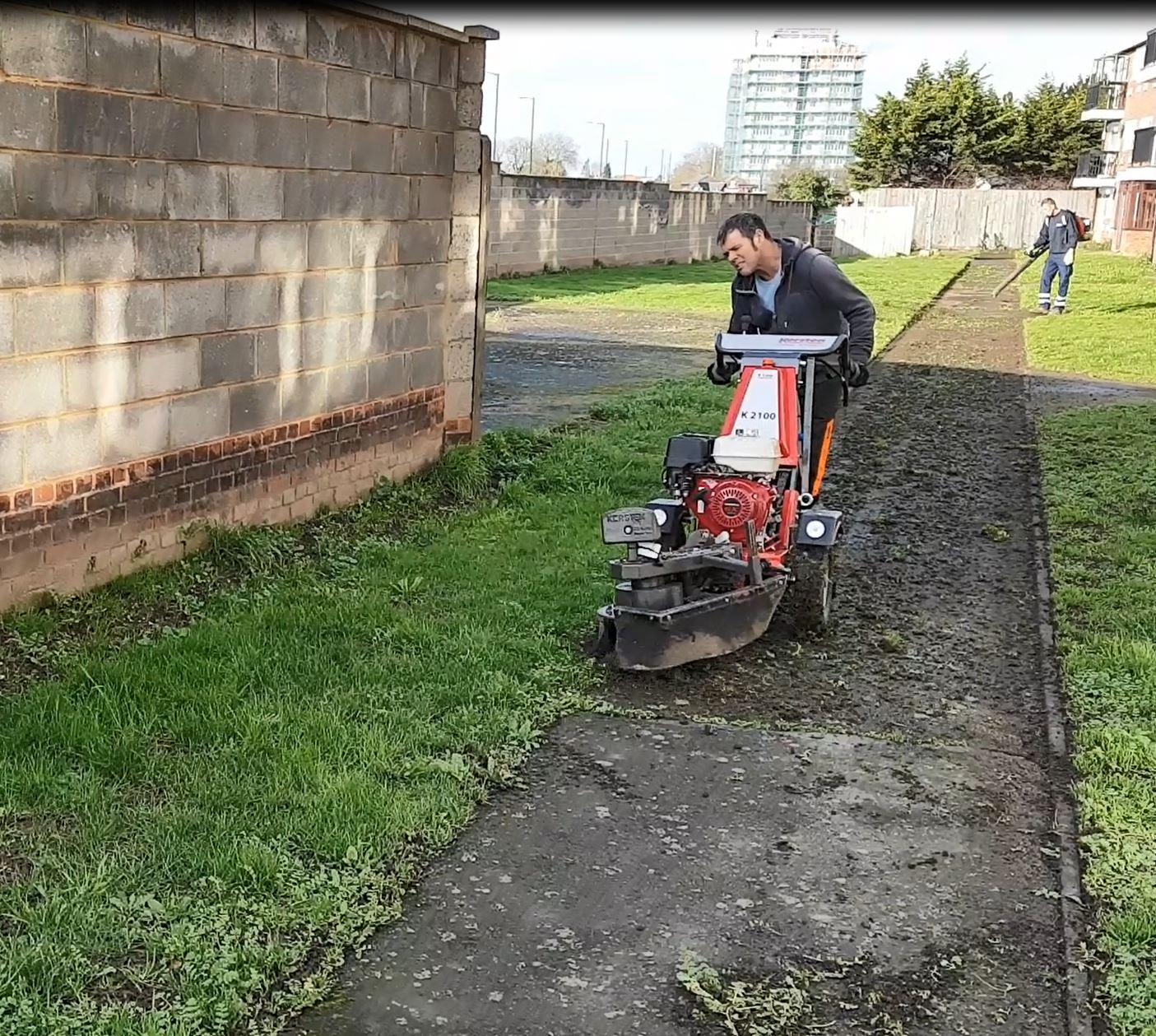 Path edging with weed brush machine cuts time and effort by 80% (read more here.......) - Cover Image