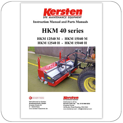 Instruction Manual - Spare Parts Lists Front Sweeper HKM 40