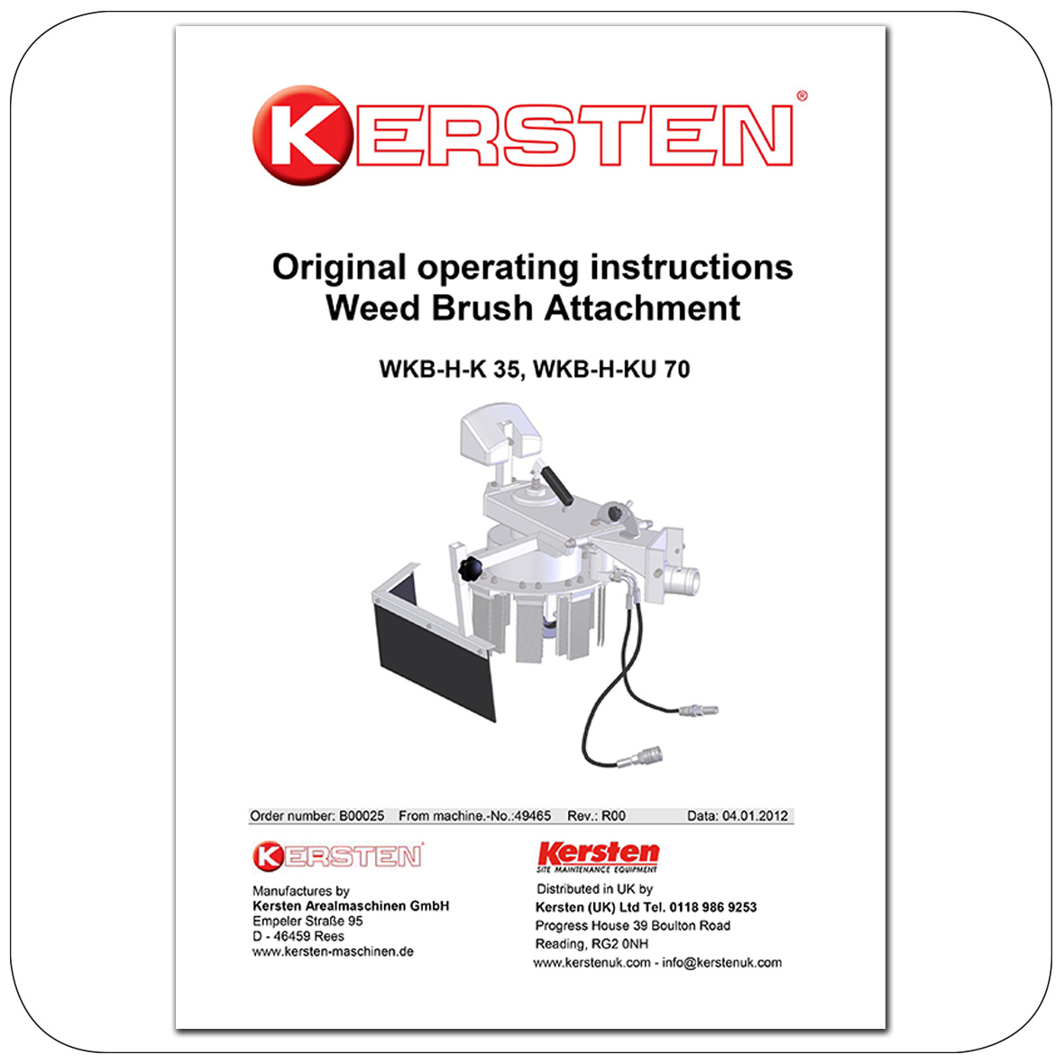 Instruction Manual - Weedbrush WKB-H-K 35, WKB-H-KU 70 - Attachments - B00025