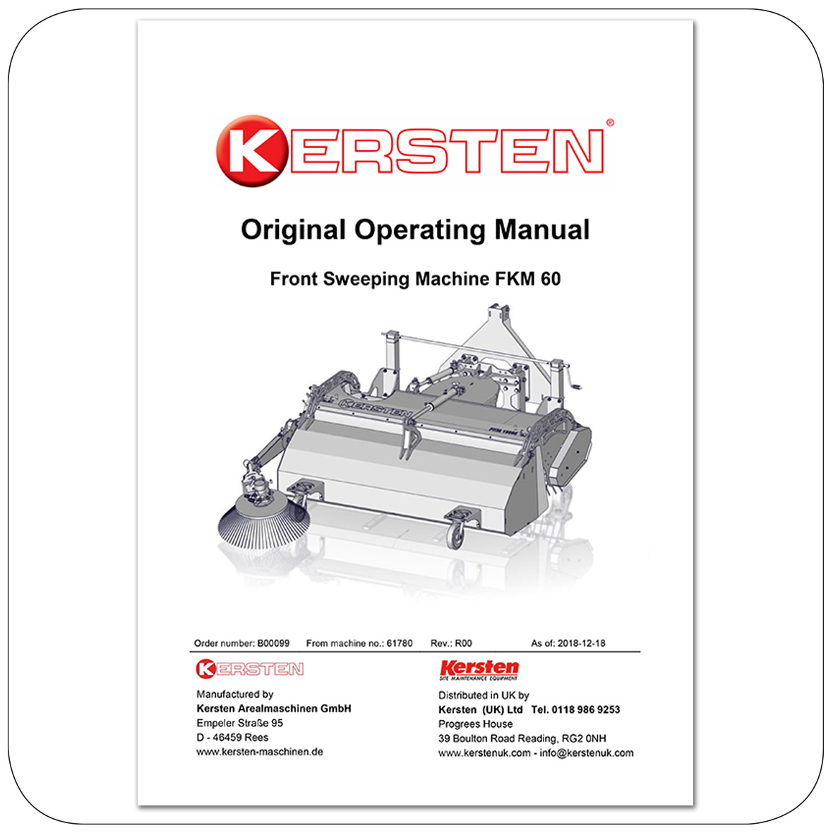 Instruction Manual Front Sweeper FKM 60