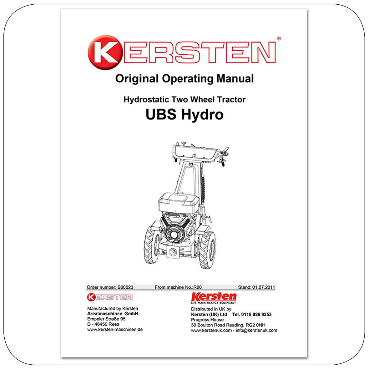 Instruction Manual UBS Hydro - Power Unit - B00023