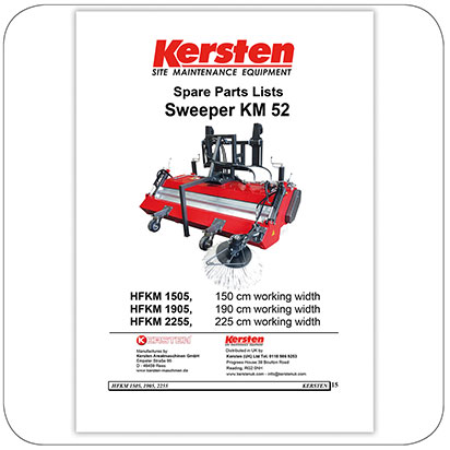 Spare Parts Lists Sweeper KM 52