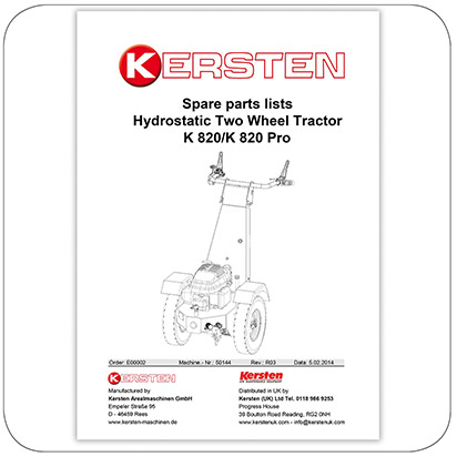 Spare Parts Lists K 820/K 820 Pro - Power Unit - E00002