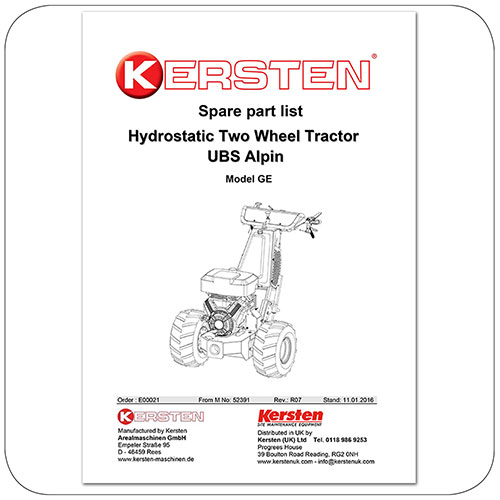 Spare Parts Lists Kersten UBS Alpin - Power Unit - E00021