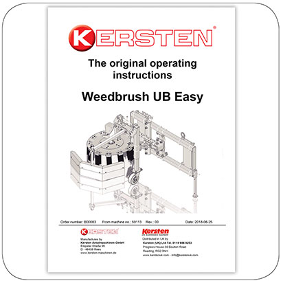 Instruction Manual Weedbrush UB Easy - B00083