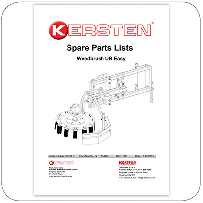 Spare part list Weedbrush UB Easy - E00101