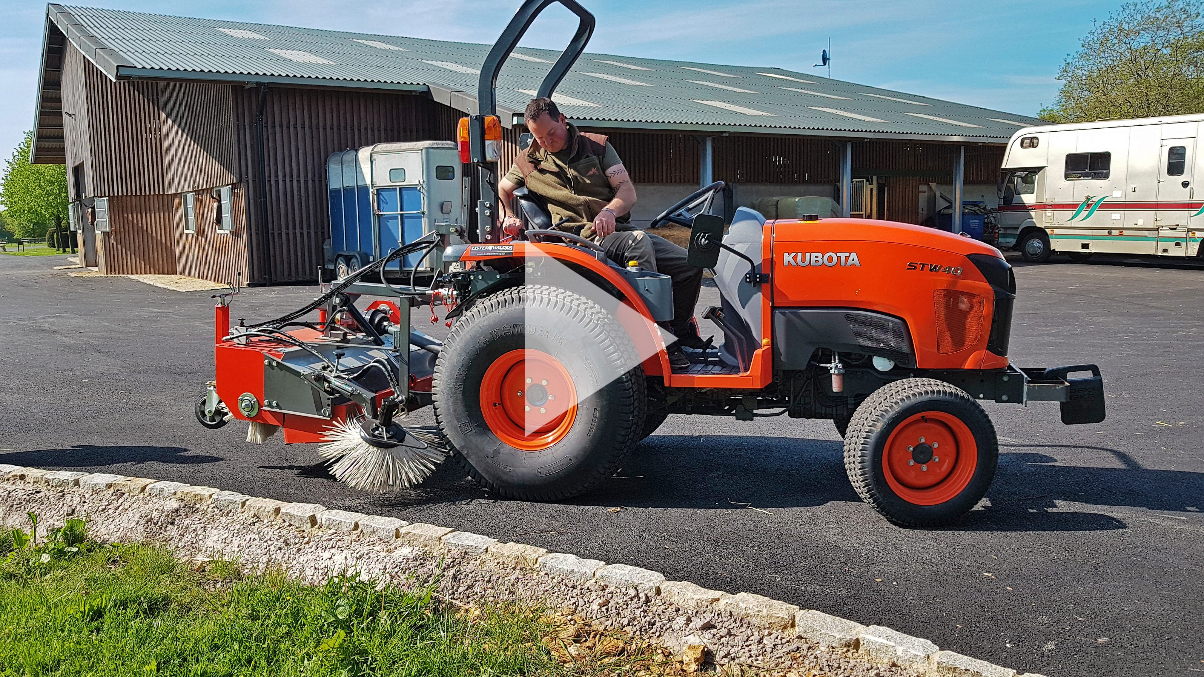 Tractor Mounted Rear PTO sweepers - Cover Image