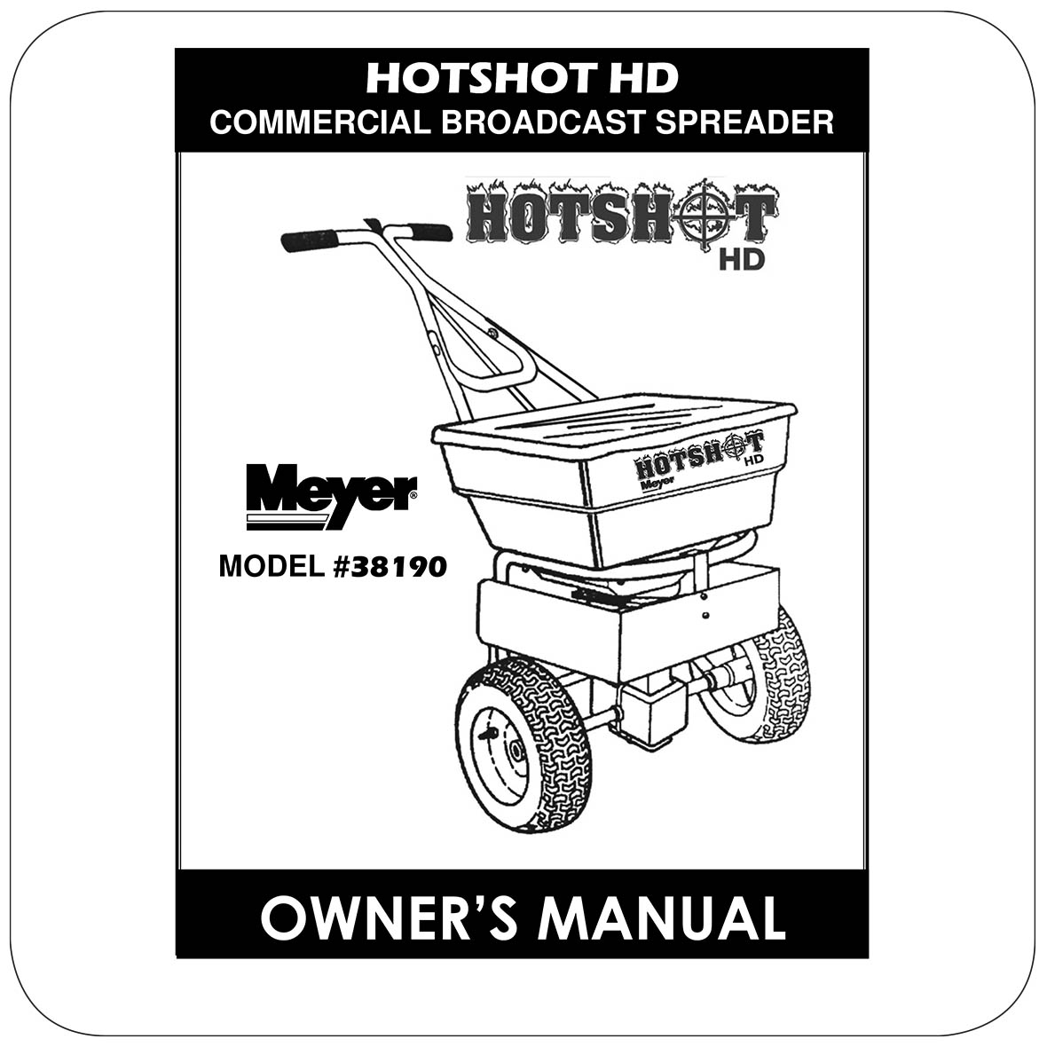 Owners Manual HotShot 100HD - 38190